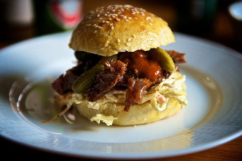 Slow Cooked Beef on a Bun
