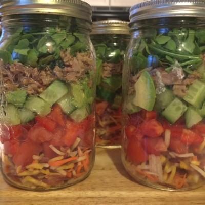 Layered tuna salad