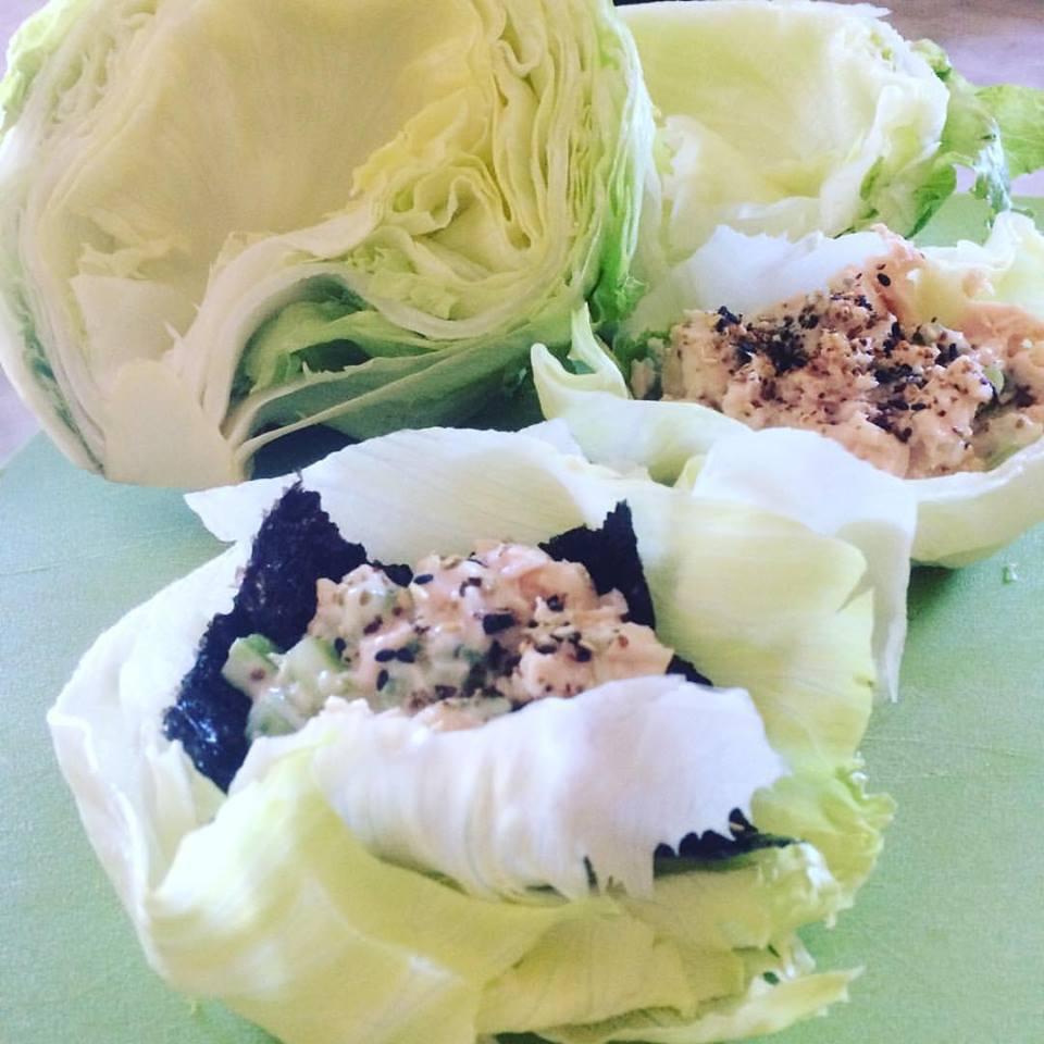 Tuna lettuce cup