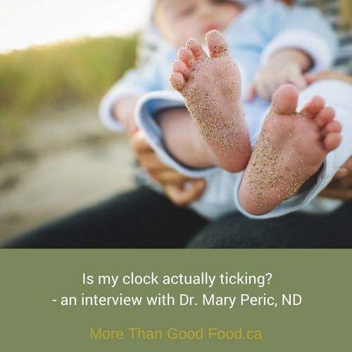 Is my clock actually ticking - an interview with Dr. Mary Peric, ND on More Than Good Food